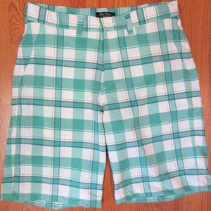 ALAN FLUSSER POLY/SPANDEX CASUAL SHORTS